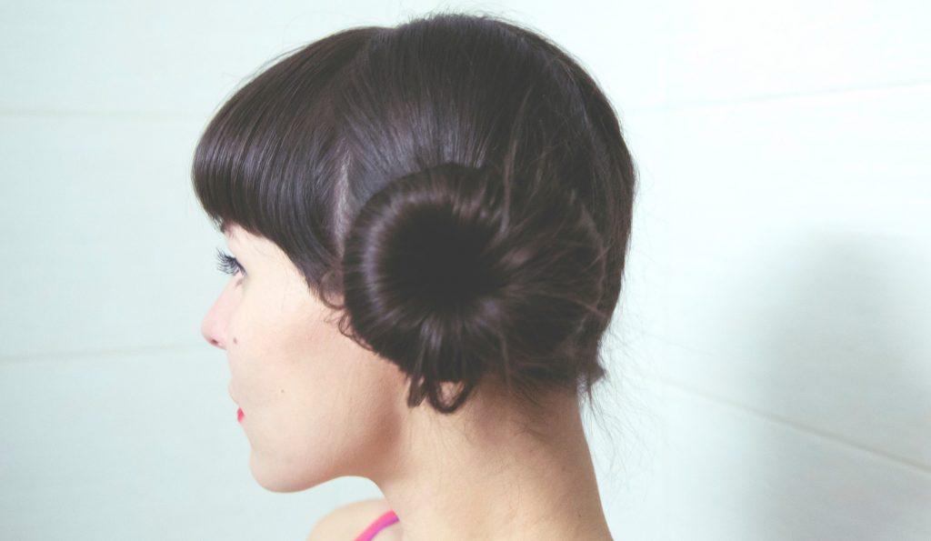 woman with side bun